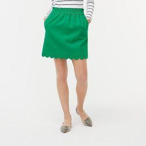 J.Crew  linen-cotton skirt